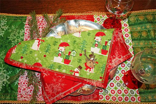 not only are we reducing our carbon footprint but we are doing it in style cloth napkins are classy and i feel are a defining elegant touch - Christmas Napkins